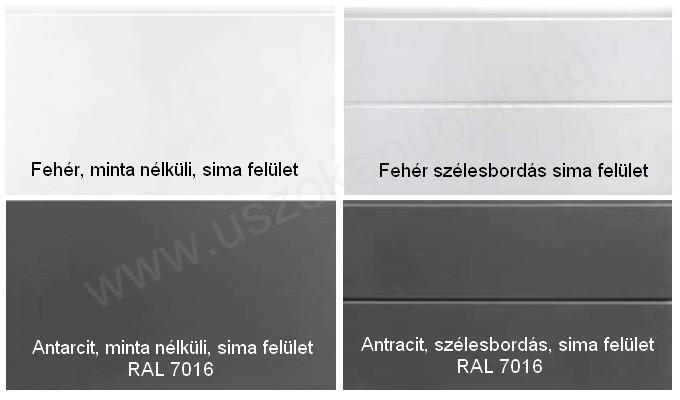 Fehér és antracit garázskapu panel