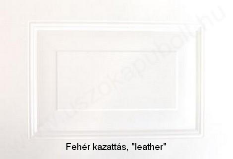 Fehér kazattás garázskapu panel