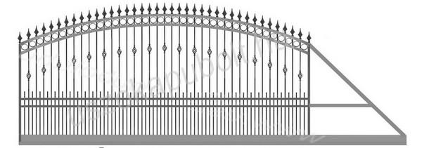 Kovácsoltvas jellegű kapu minták